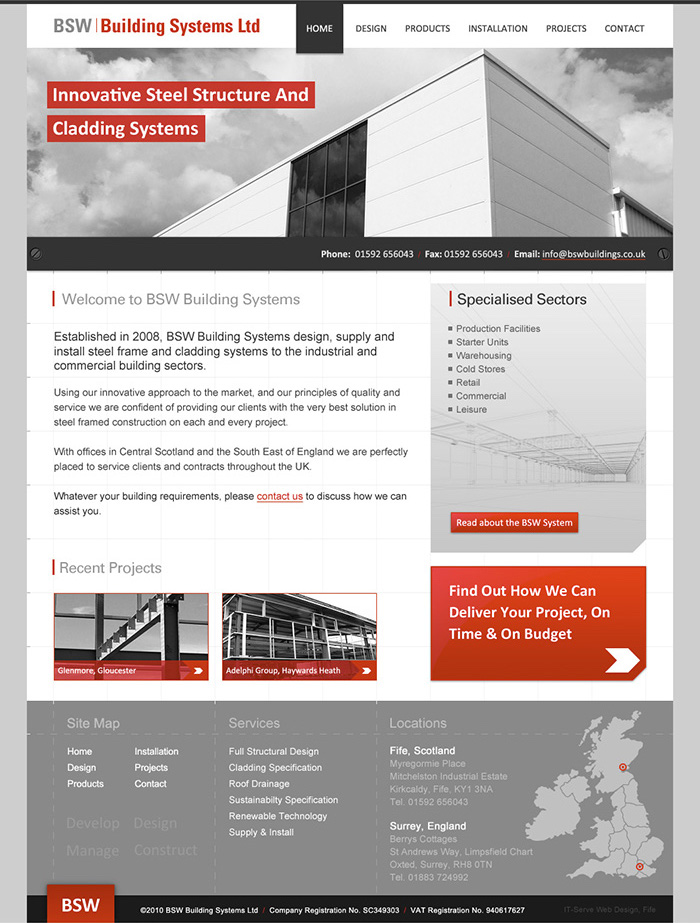 BSW Building Systems home page