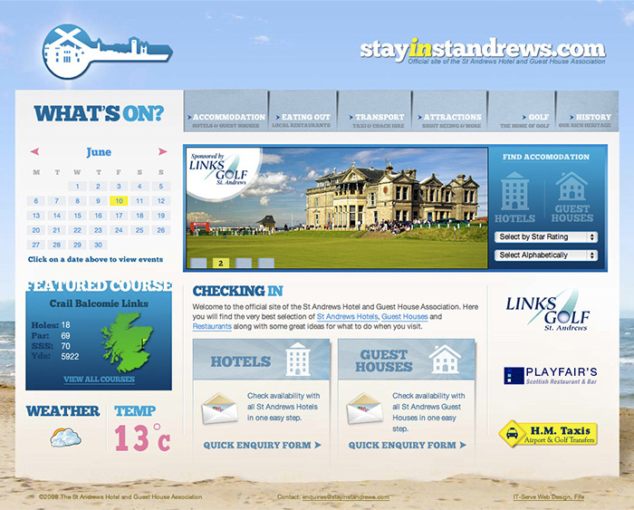 Stay in St Andrews home page